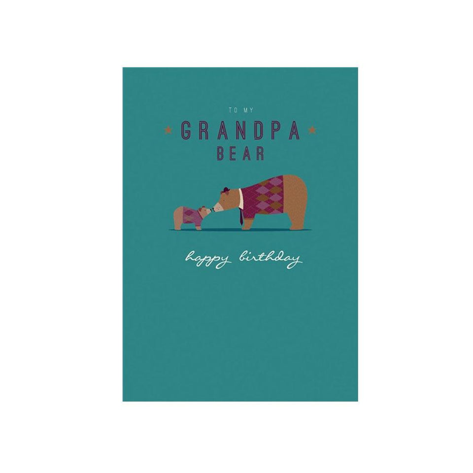Grandpa Bear Card