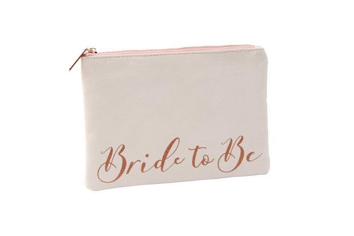 White Bride To Be Beauty Bag