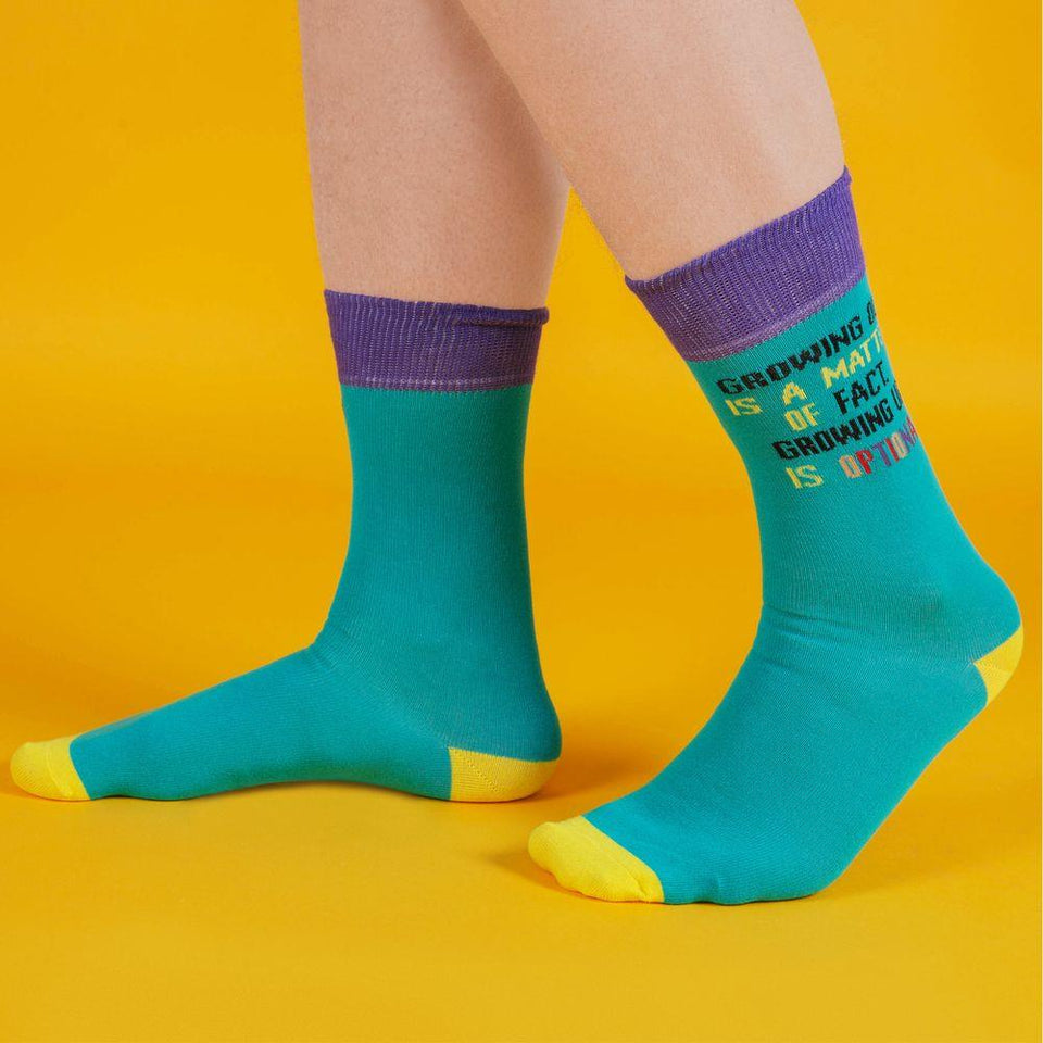 Growing Up Is Optional Men's Socks