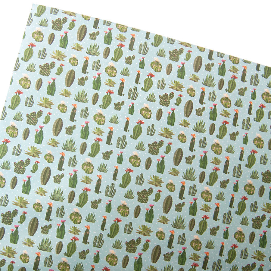 Cactus Sheet Giftwrap With Tag