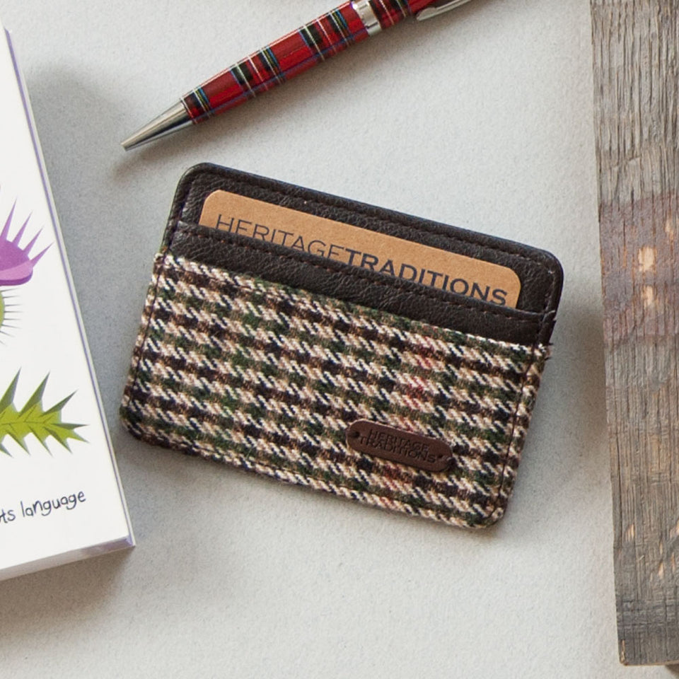 Houndstooth Tweed Heritage Card Holder
