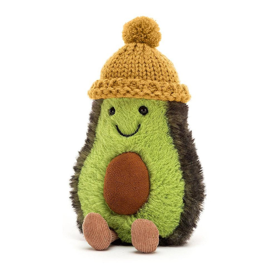Amuseable Cozi Avocado Mustard Hat Soft Toy