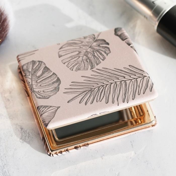 Plant Leaf Compact Mirror