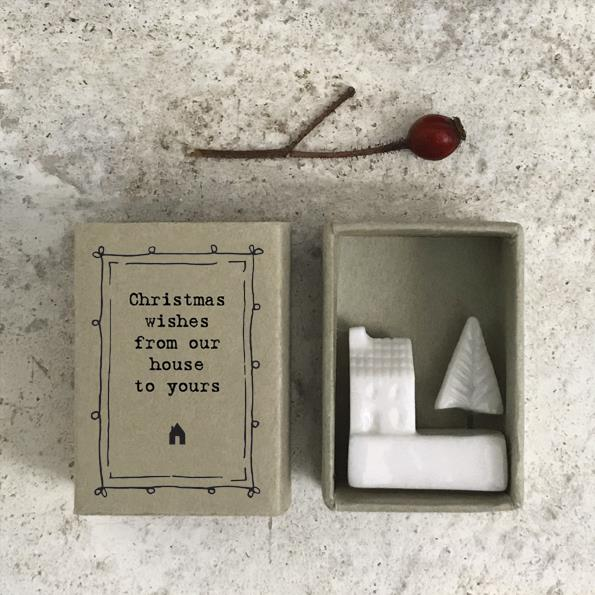 Christmas Wishes Matchbox Porcelain Decoration