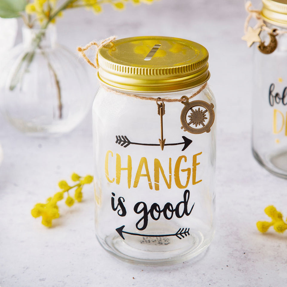 Change Is Good Money Jar