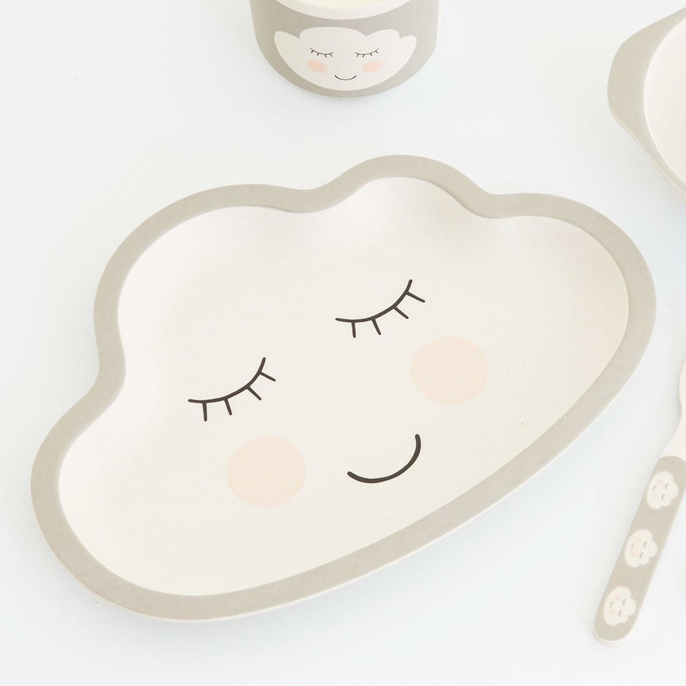 Sweet Dreams Bamboo Cloud Kid's Plate
