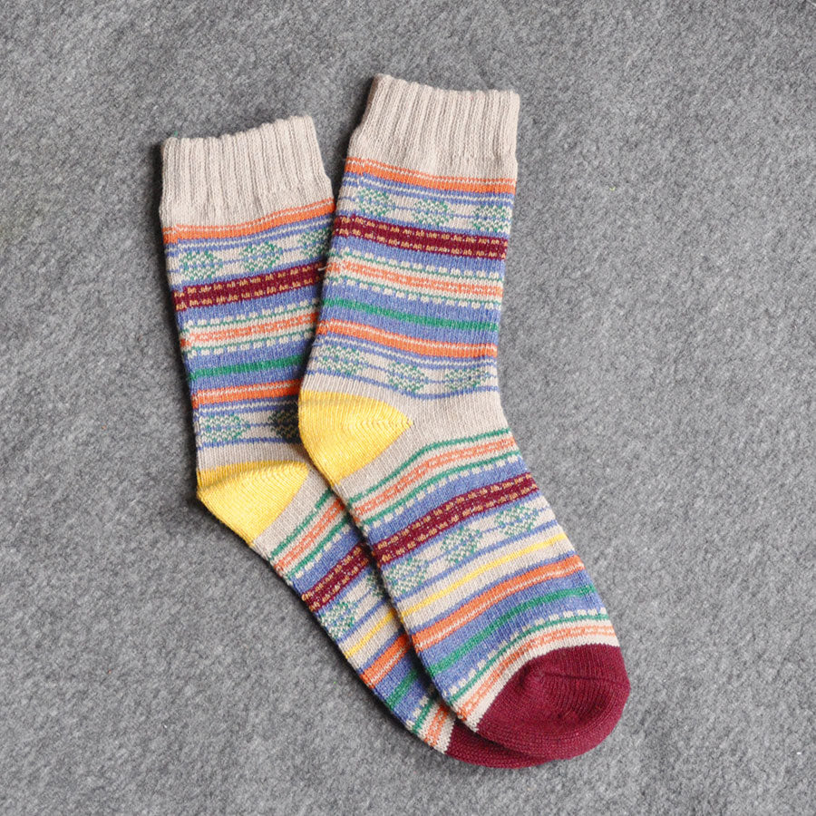 Colourful Wool Blend Socks
