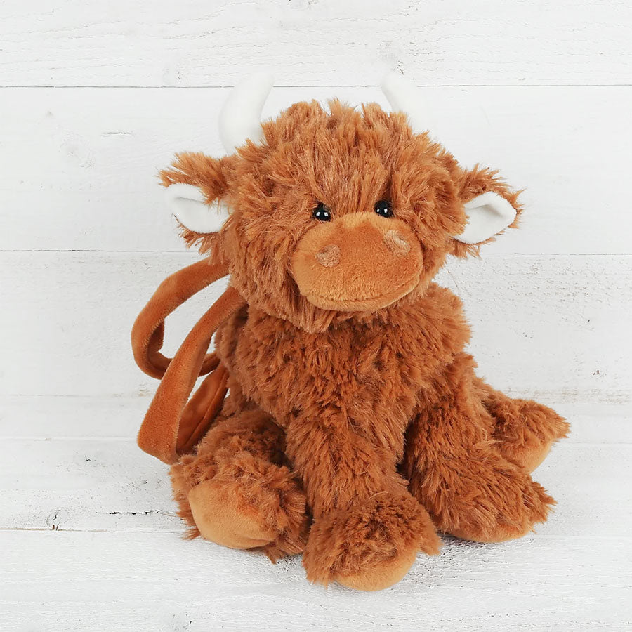 Highland Coo Soft Plush Bag
