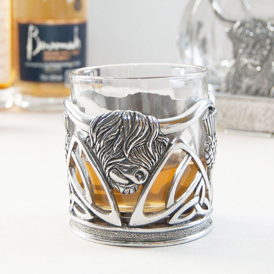 Highland Cow Whisky Tumbler