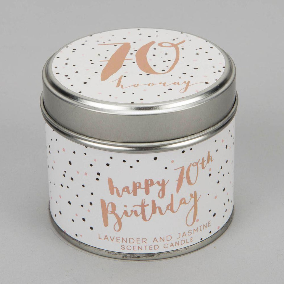 70 Birthday Luxe Candle Tin