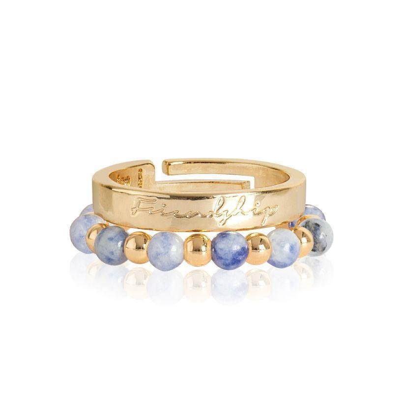 Signature Stones Yellow Gold Friendship Rings