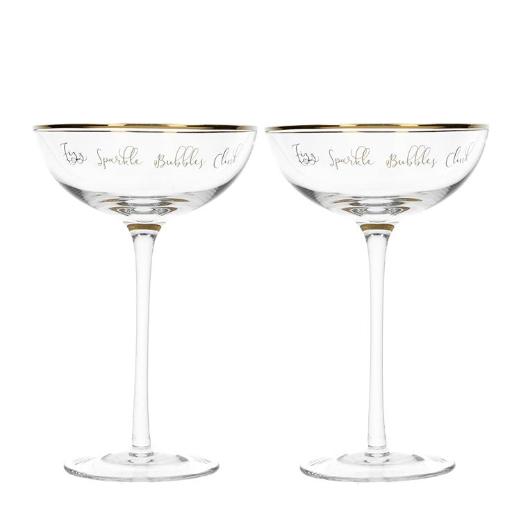 Ava & I Champagne Saucers Set of 2