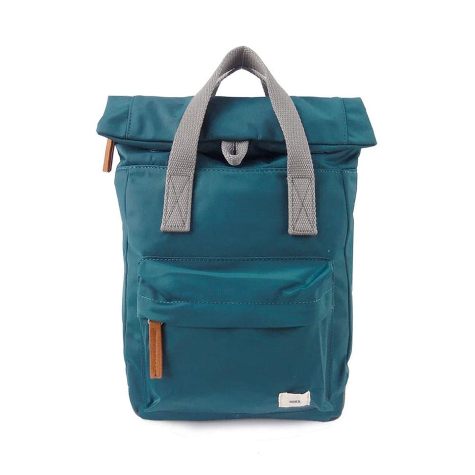 Teal Green Nylon Backpack
