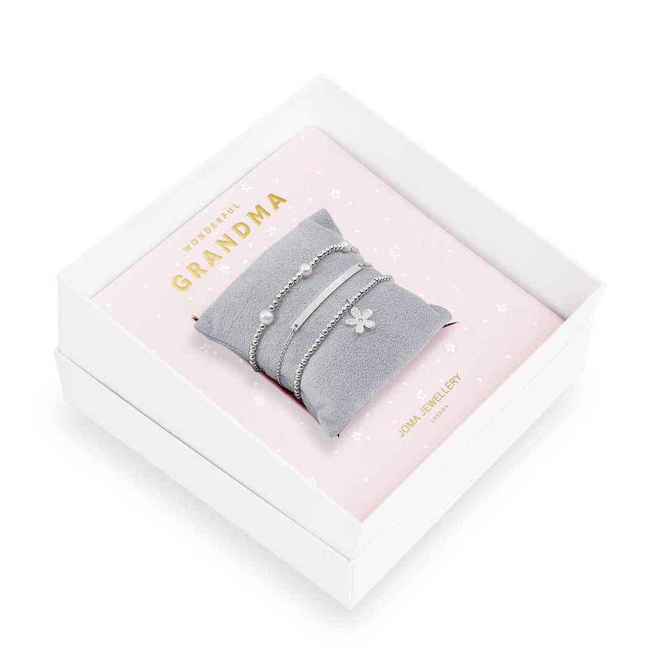 Wonderful Grandma Bracelet Gift Box Set