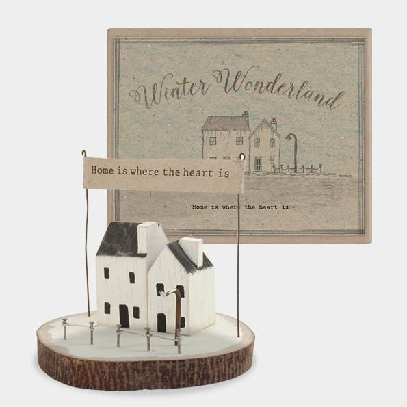 Home Is Where Heart Is Winter Wonderland Scene Decoration