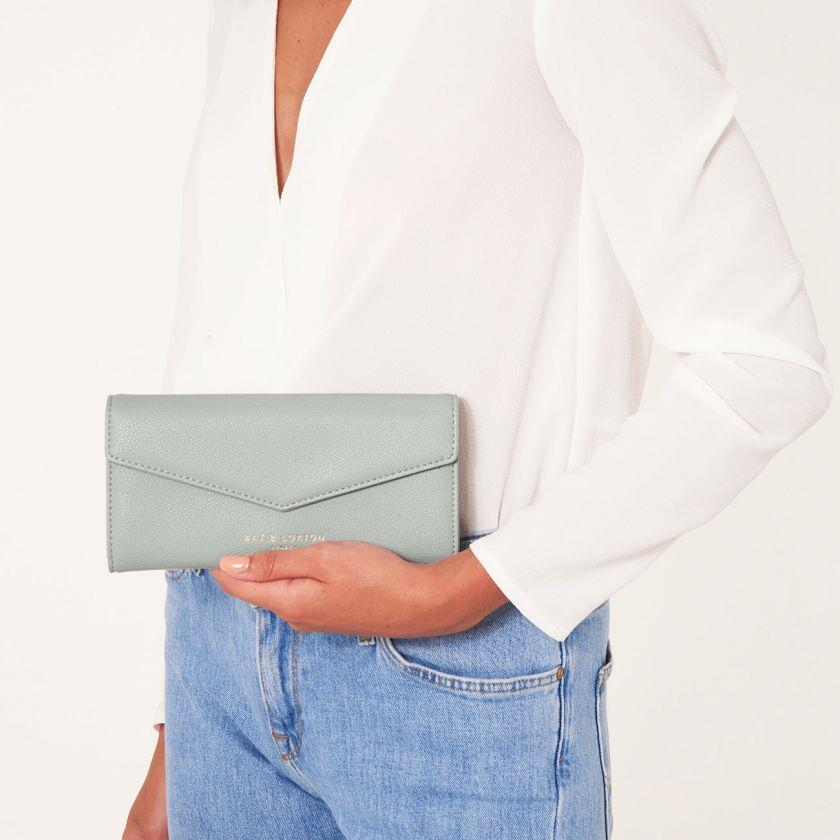Soft Grey Esme Envelope Purse