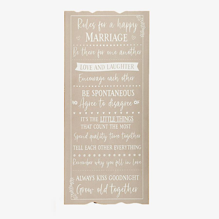 Wooden Marriage Plaque