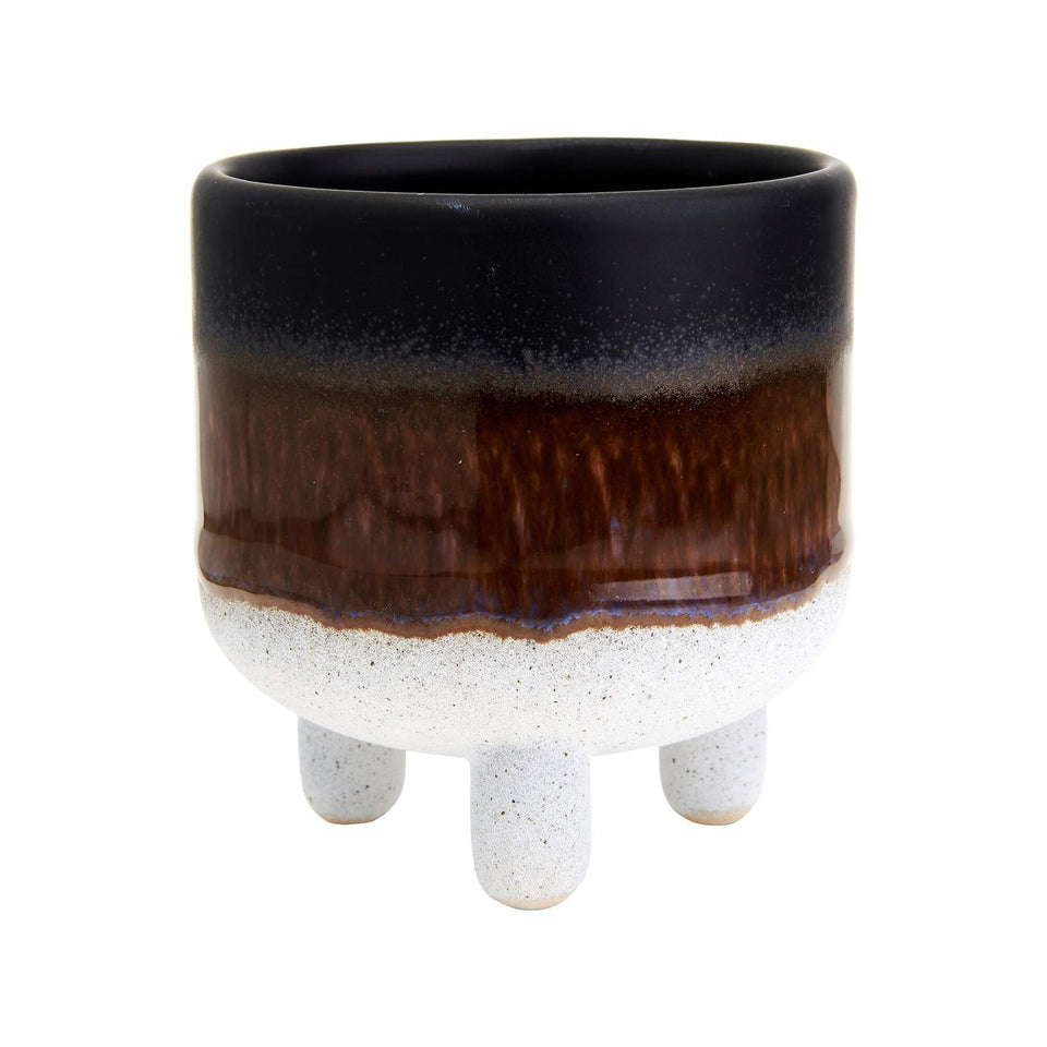Mojave Glaze Black Ombre Mini Planter