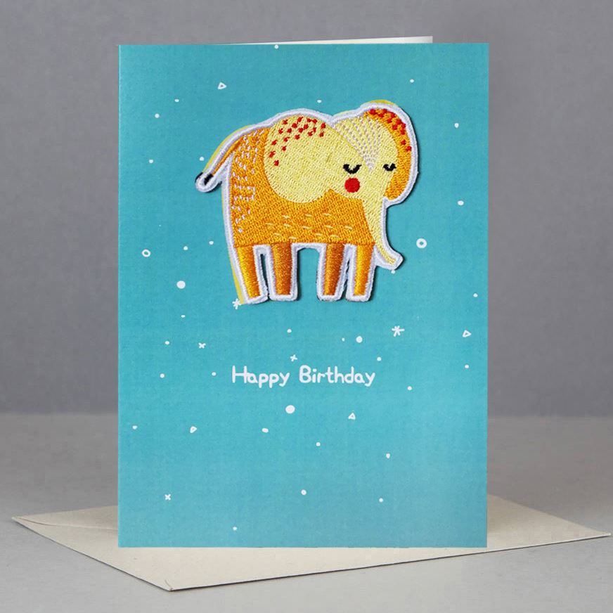 Elephant Patch Card