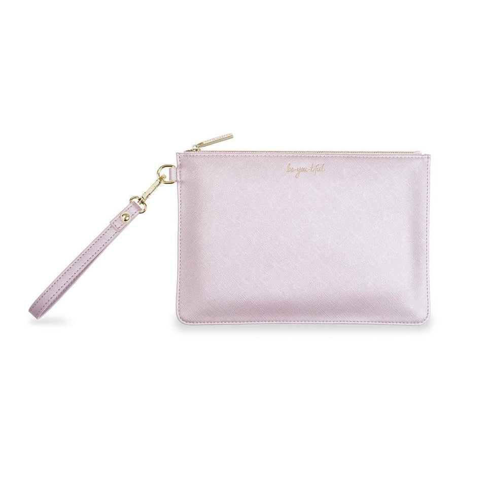 Be-You-Tiful Secret Message Pouch in Metallic Lilac