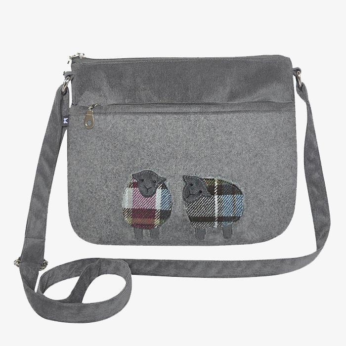 Grey Sheep Applique Messenger Bag
