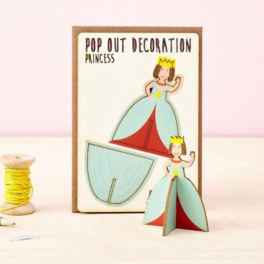 Princess Wooden Pop Out Card