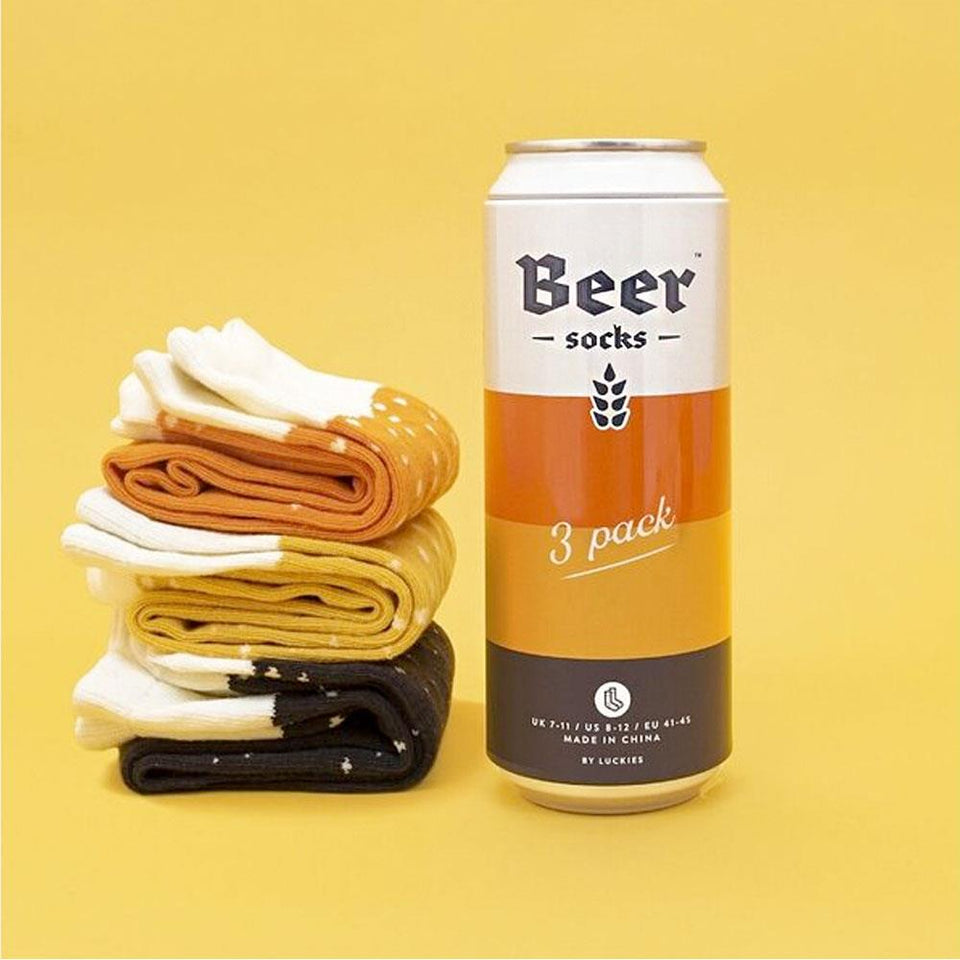 Mixed Beer Socks Pack of 3