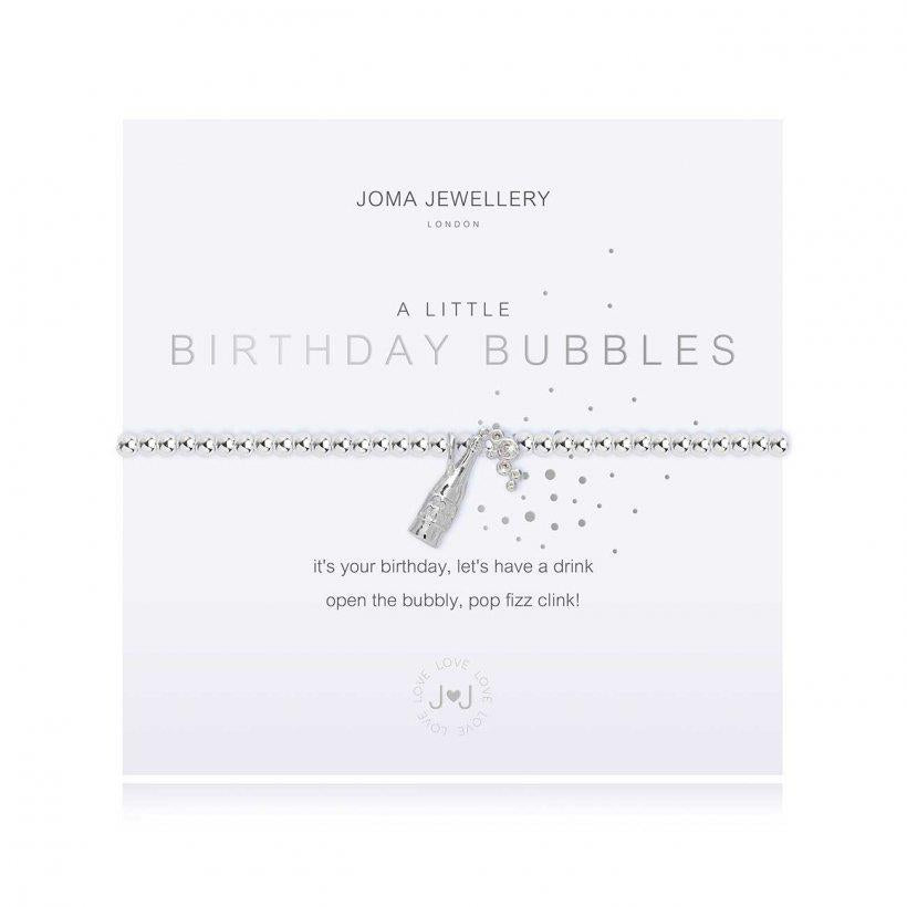 A Little Birthday Bubbles Silver Bracelet
