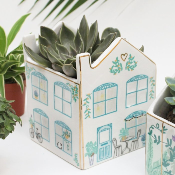 Boulevard House Ceramic Planter | With Gift Box