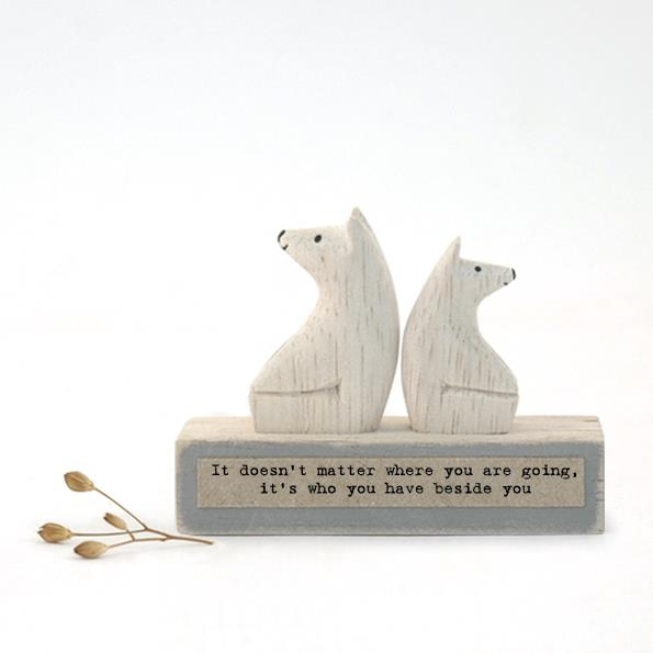 Mini Bear Wooden Decoration