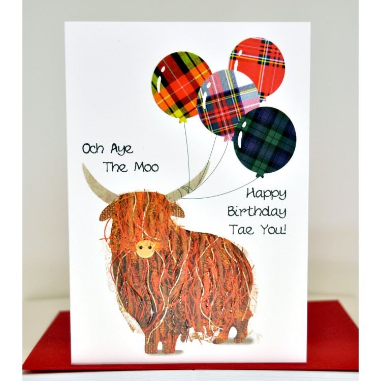 Och Aye The Moo Birthday Card