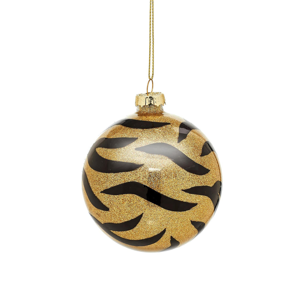 Tiger Stripe Gold and Black Bauble