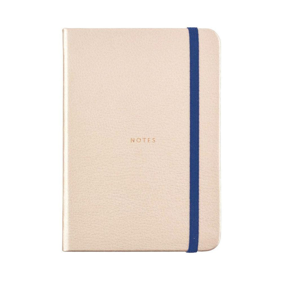 Busy Life Rose Gold Faux Leather Notebook