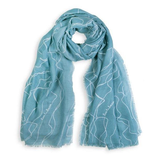 Live To Dream Turquoise Sentiment Scarf