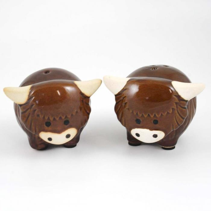 Highland Cow Cruet Salt & Pepper Shaker Set