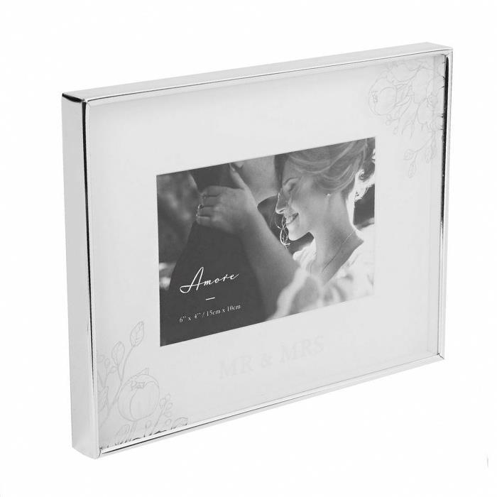 Mr & Mrs Silver Floral Detail Frame