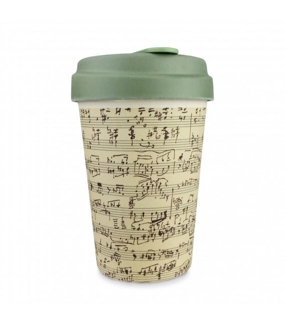 Music Notes Bamboo Travel Mug Cup