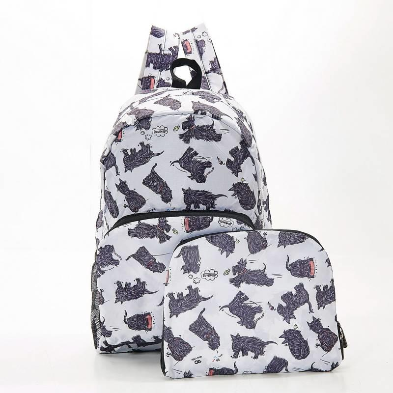 White Scatty Scotty Foldable Backpack
