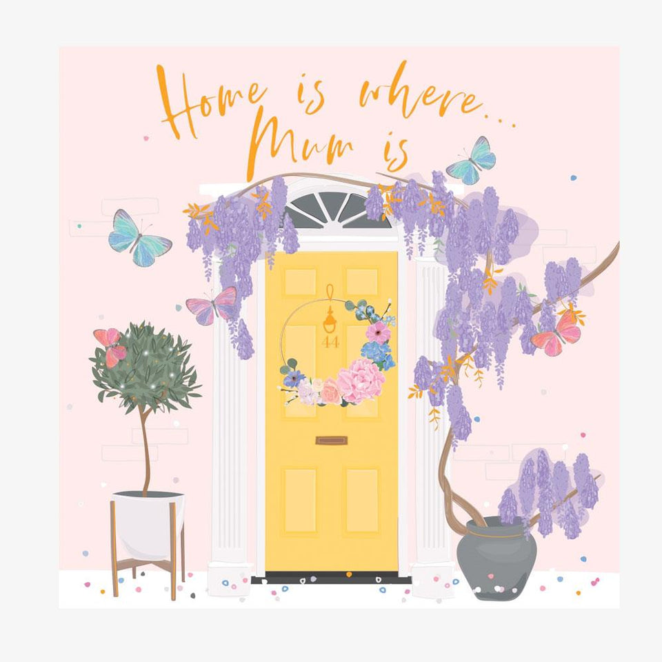 Mother's Day Home Is Where Mum Is Card