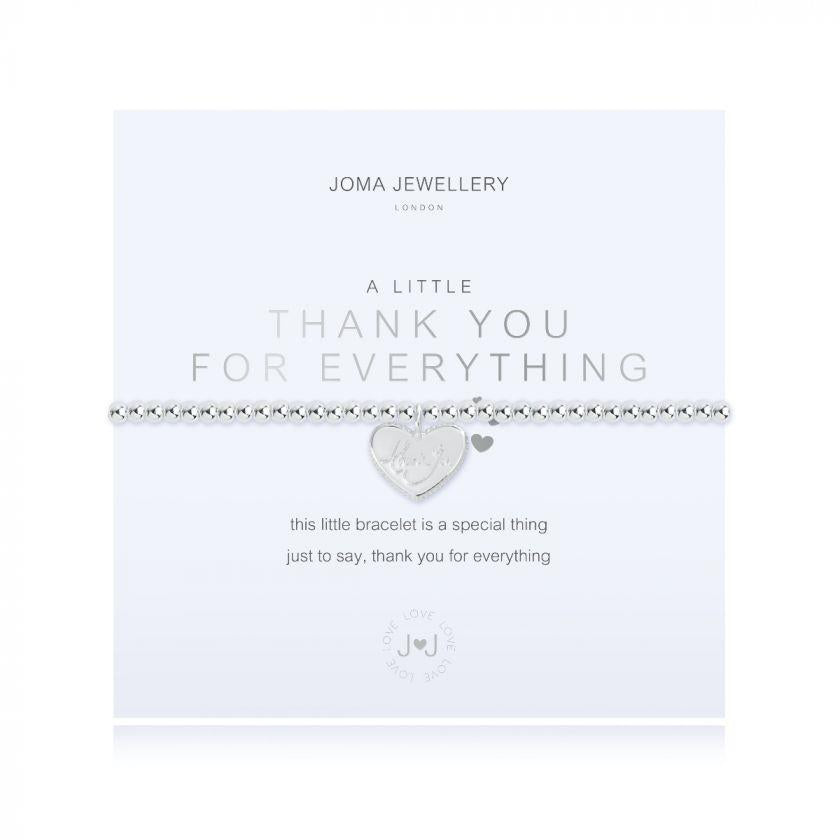A Little Thank You For Everything Charm Bracelet
