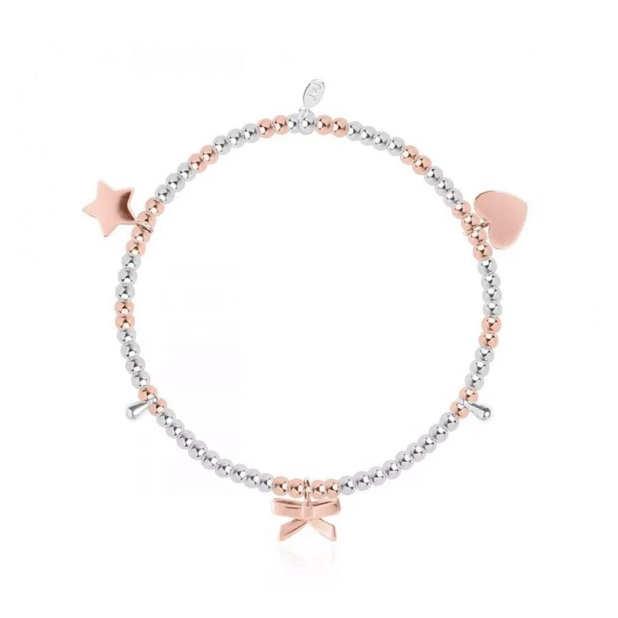 Silver And Rosegold Charm Bracelet