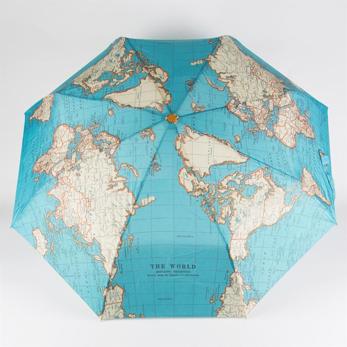 Vintage Map Folding Umbrella