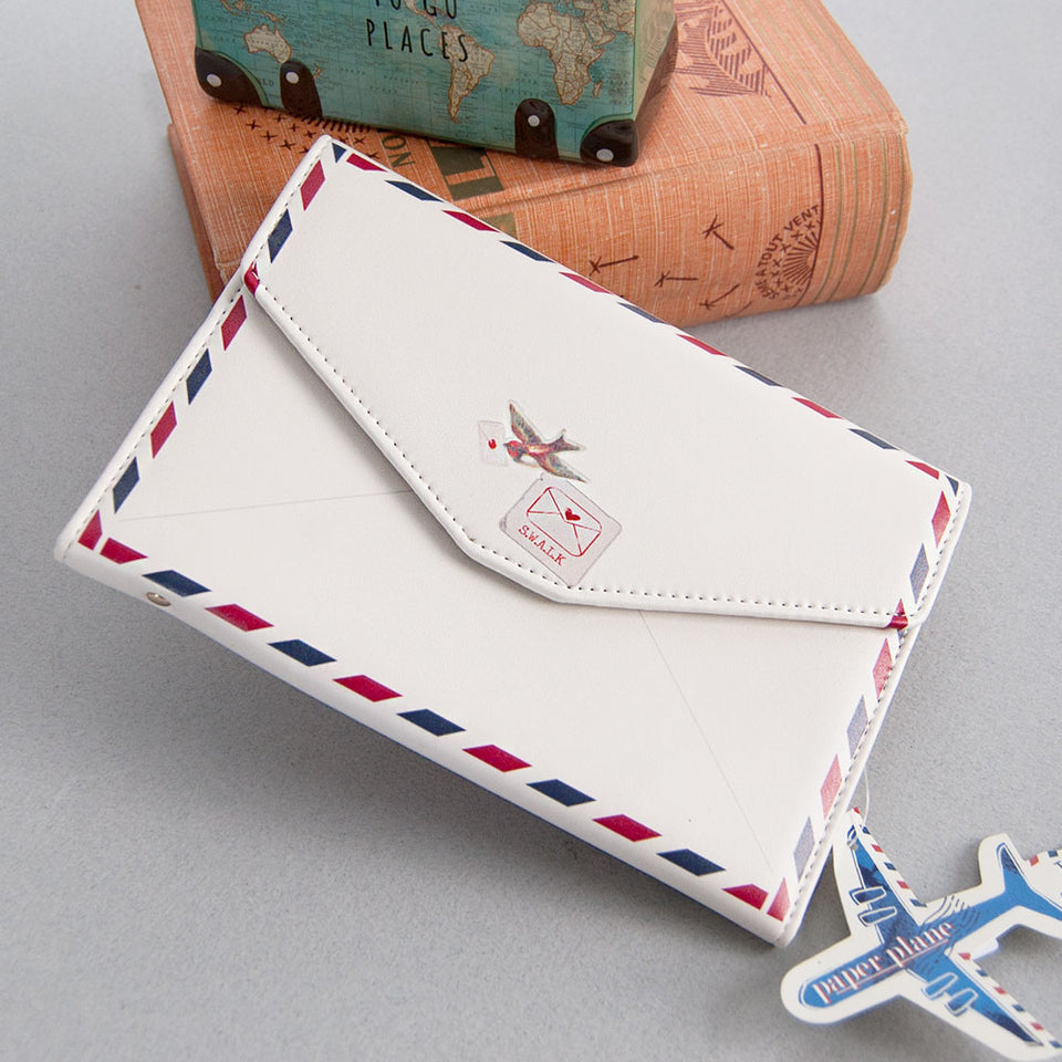 Paper Plane Envelope Travel Wallet
