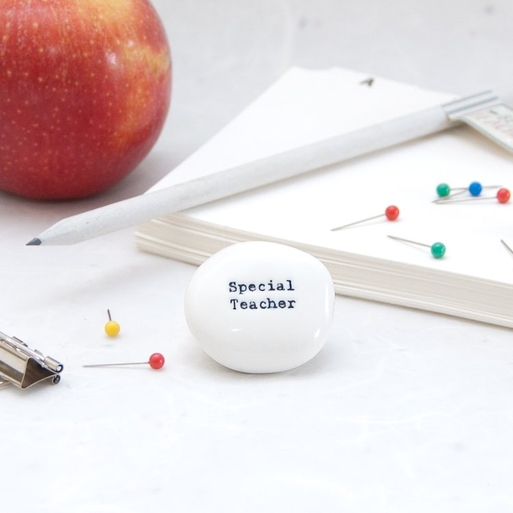 Special Teacher Apple Pebble