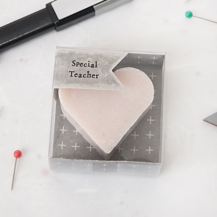 Special Teacher Heart Soap
