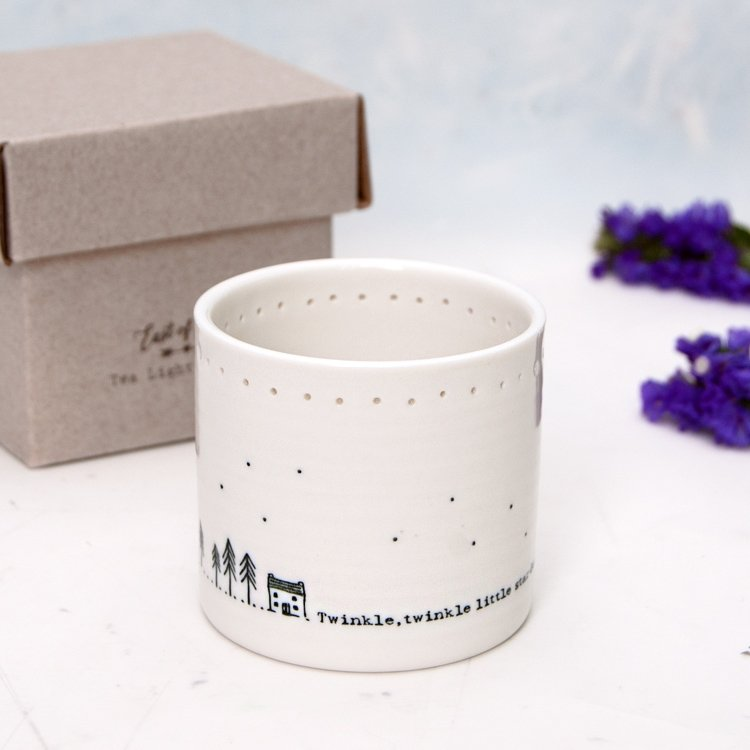 'Twinkle twinkle' Porcelain Tealight Candle Holder