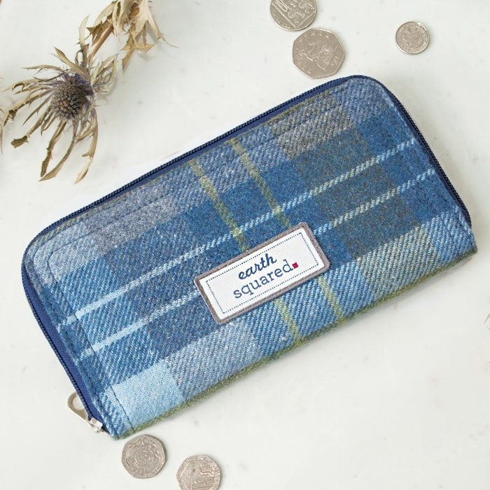 Coastal Blue Tweed Wallet