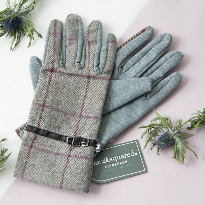 Grey Fog Heritage Tweed Gloves