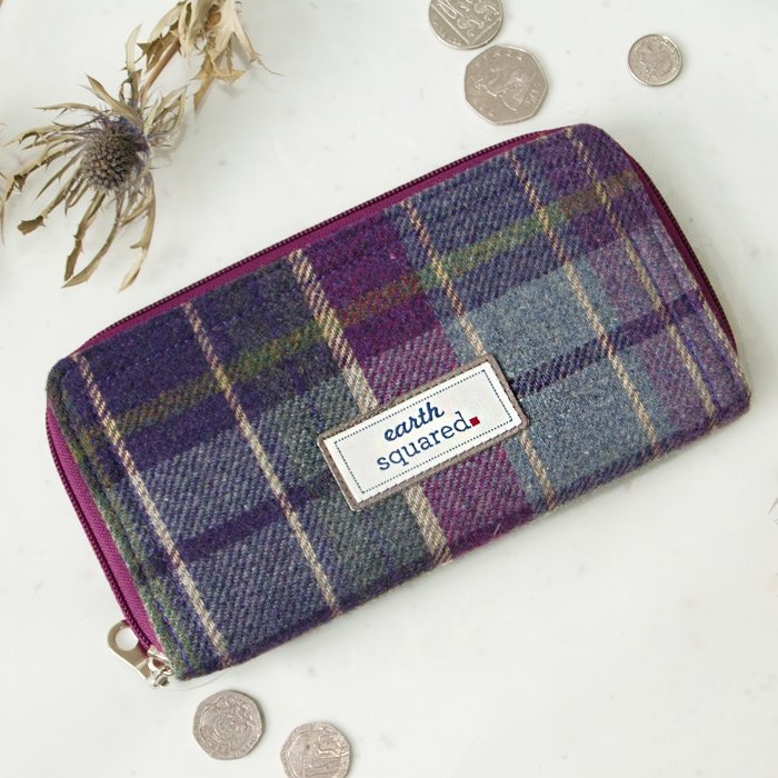 Purple Quartz Tweed Wallet