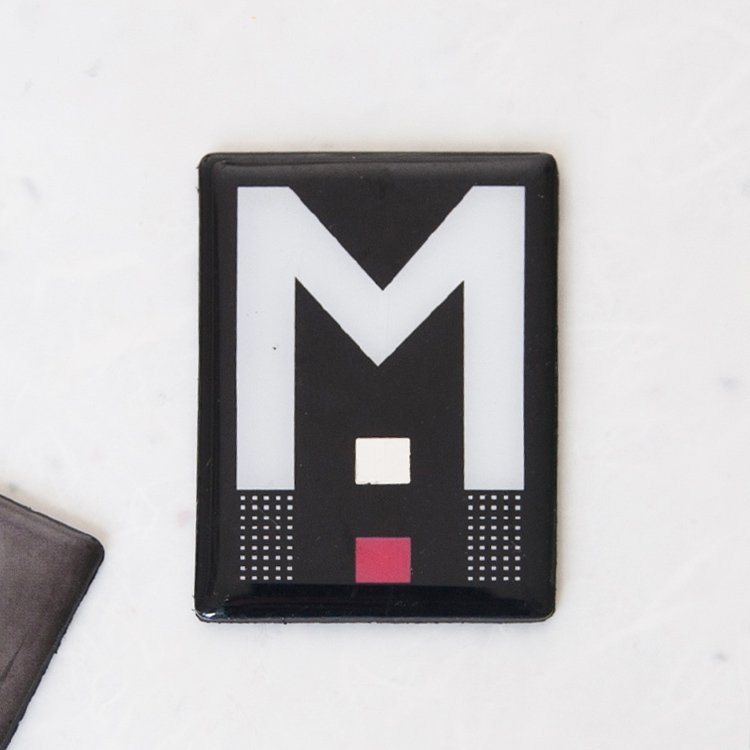 Rennie Mackintosh 'M' Square Magnet